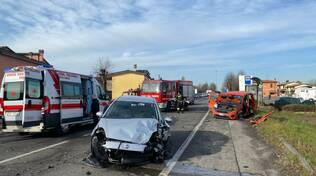 incidente frontale a Pontenure