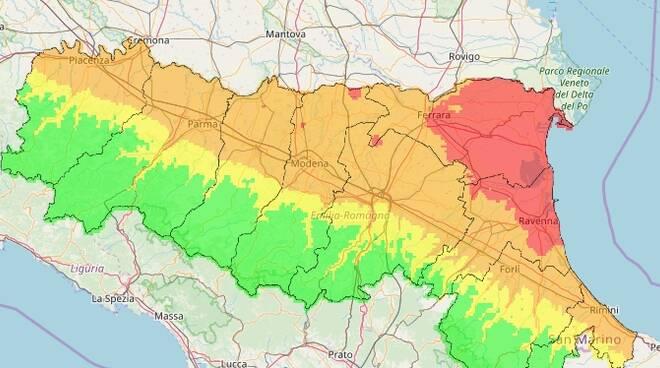 Mappa pm10 Arpae (26 gennaio)