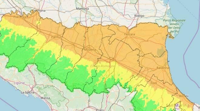 mappa qualità aria arpae