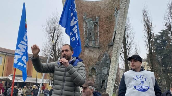 Matteo Rancan (Lega) a Pontenure