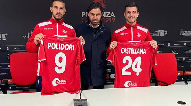 Polidori e Castellana con il ds Matteassi (Foto Piacenza Calcio)