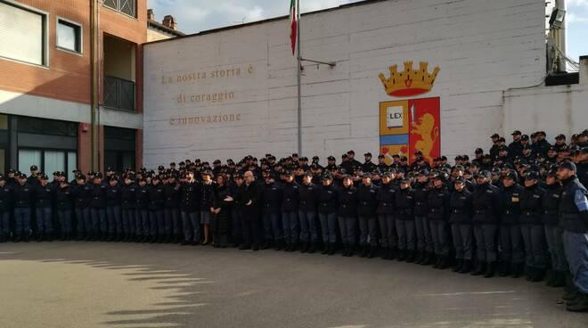 Tina Montinaro alla Scuola di Polizia di Piacenza
