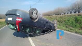 auto ribaltata a Borgonovo