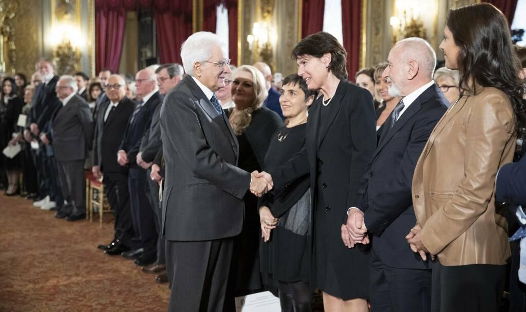 Giovanna Covati insieme al Presidente Mattarella (Foto Quirinale.it)