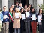 I giovani volontari di Gragnano premiati