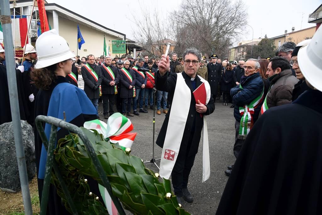 La cerimonia di commemorazione delle vittime delle Foibe