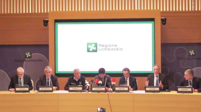 La Conferenza stampa sul Coronavirus in Regione Lombardia