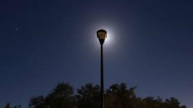Lampione di notte