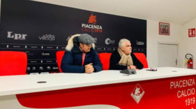 Marco Gatti e Roberto Pighi (foto Piacenza Calcio)