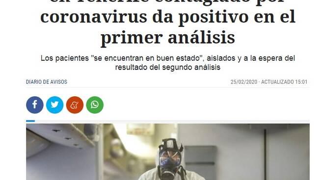 Tenerife medico coronavirus