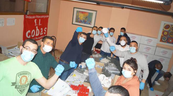 Cobas donazione mascherine