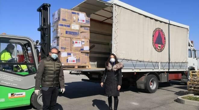Donazione mascherine dalla Cina