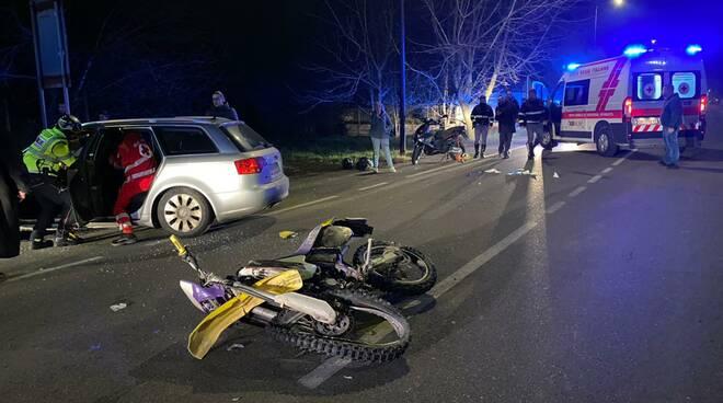 incidente moto San Nicolò