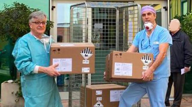 La consegna dei respiratori