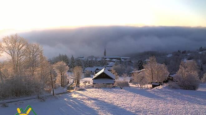 nevicata sulle montagne piacentine 6 marzo
