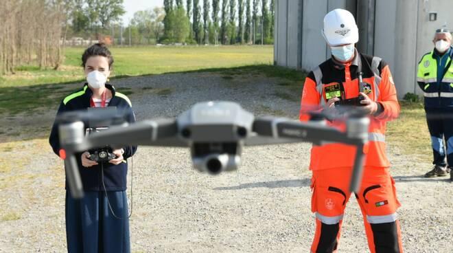 controlli droni a Sarmato
