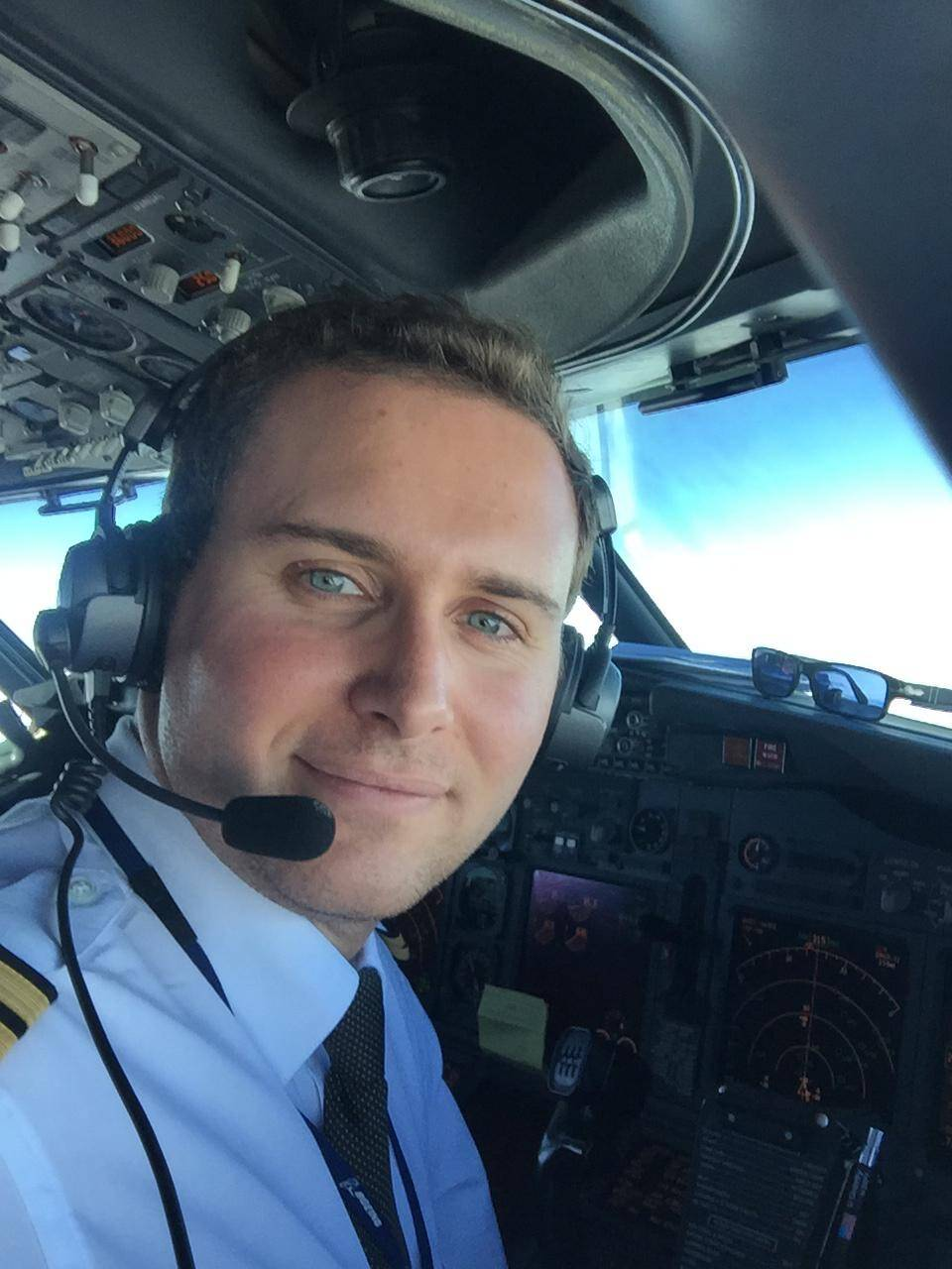 Francesco Tecchio pilota linea aviazione