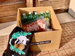 Generi alimentari consegnati dai tifosi della Curva Nord
