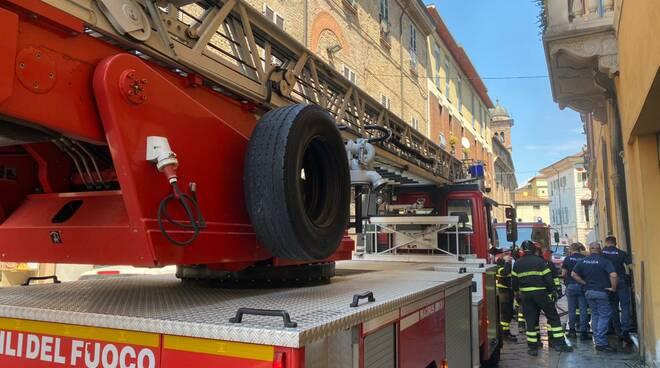 incendio in via Legnano