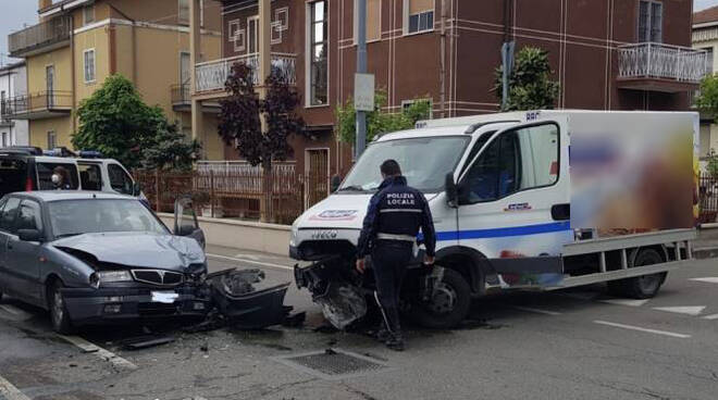 Incidente all'incrocio Piacenza