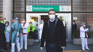 La visita dell'assessore Donini in ospedale
