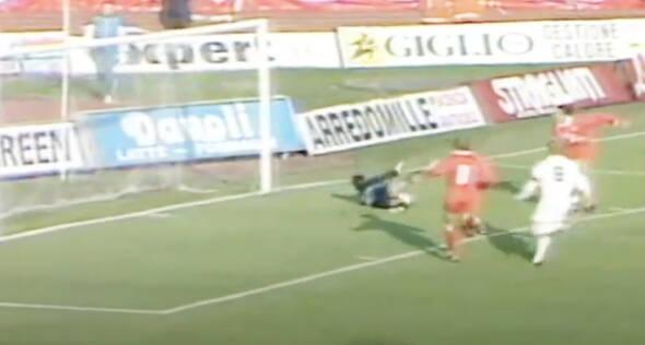 Piacenza - Foggia: gol Piovani