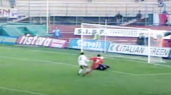 Piacenza-Foggia: gol Turrini
