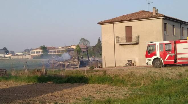 Vigili del fuoco a Rottofreno