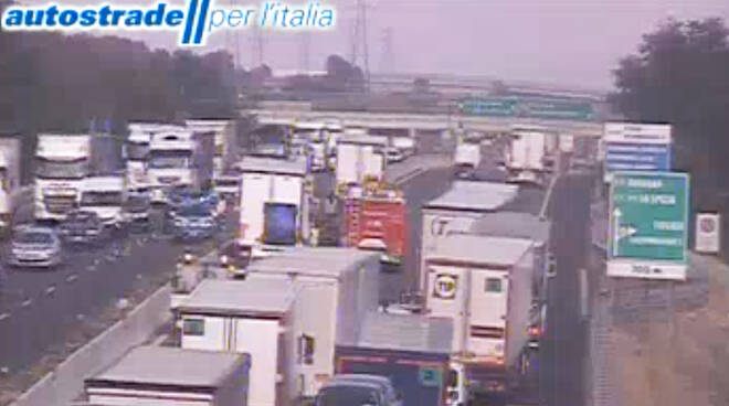 Incidente in A1 a Fidenza