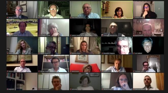 La conviviale online del Rotary Piacenza