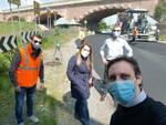 Lavori sul ponte di Trebbia
