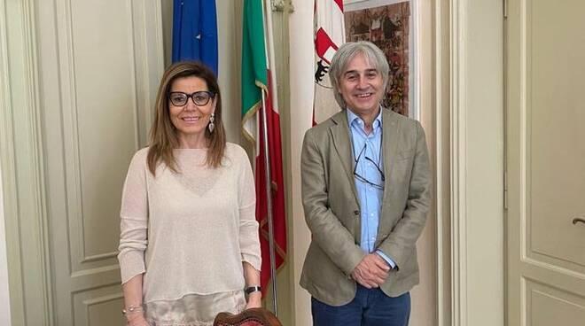 Mauro Molinaroli e il sindaco Barbieri