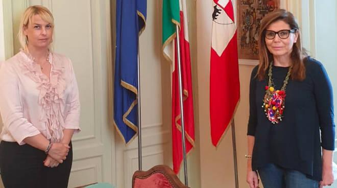 Bragalini con il sindaco Barbieri