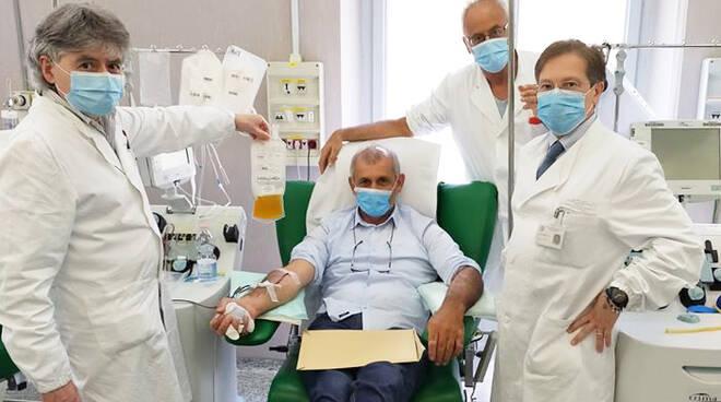 Il sindaco di Borgonovo dona il plasma al San Matteo di Pavia