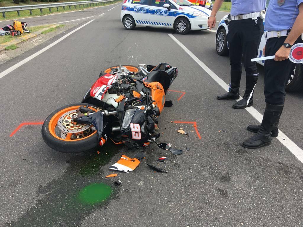 incidente Niviano moto