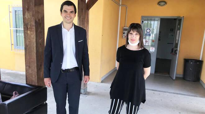 Luca Zandonella insieme a Elisa Agnelotti