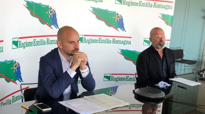 Paolo Calvano e Stefano Bonaccini