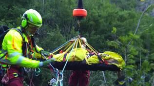 soccorso alpino cascate del Carlone