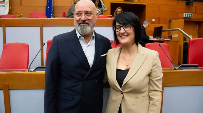 Stefano Bonaccini e Emma Petitti