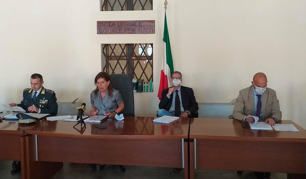 Conferenza stampa carabinieri