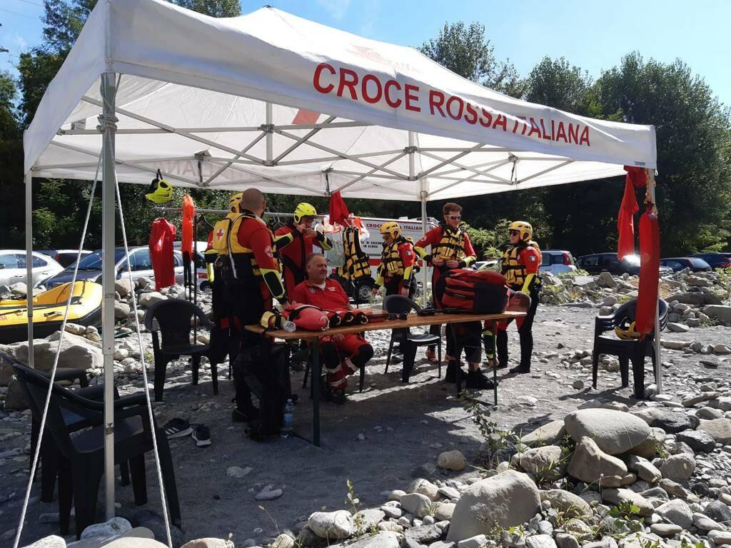 Esercitazione della Croce Rossa in Trebbia
