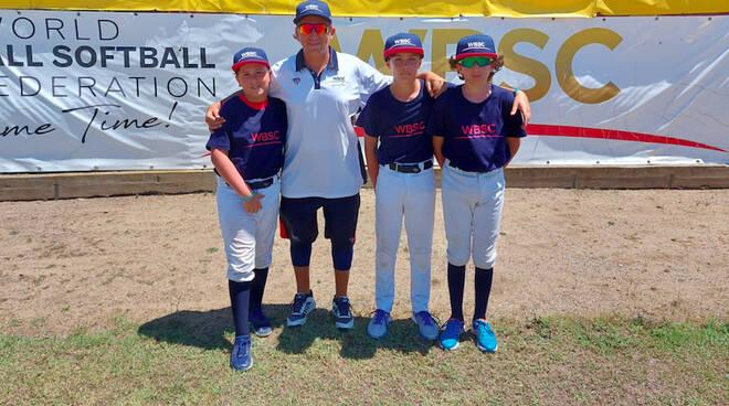 I tre giovani piacentini del Piacenza Baseball