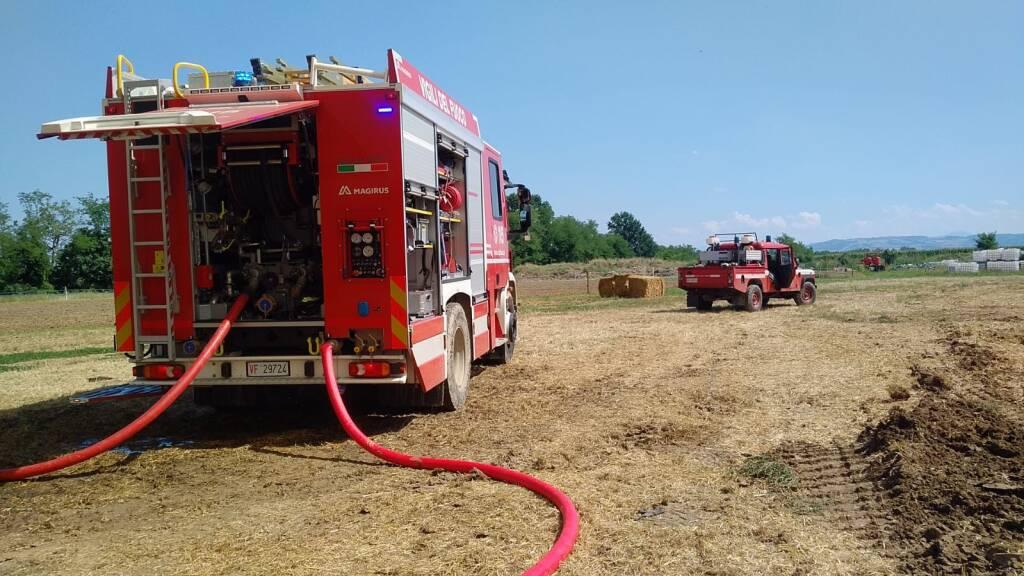 Incendio azienda agricola Borgonovo