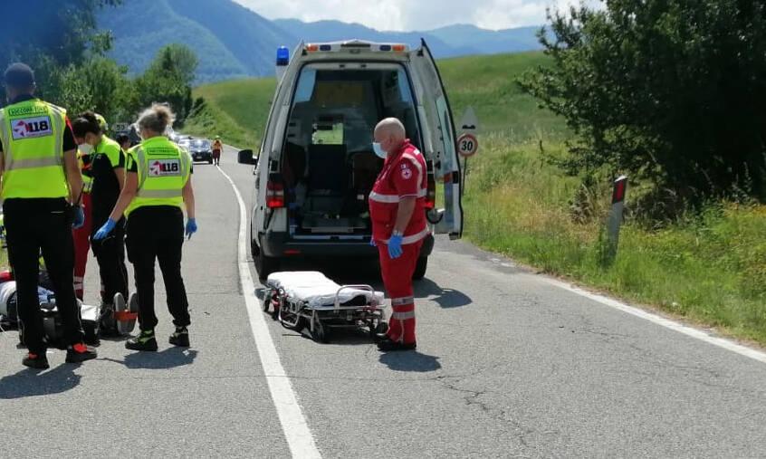 Incidente in moto sull strada del Penice
