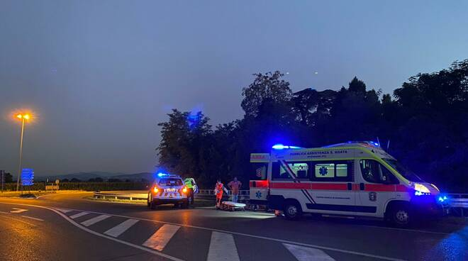 incidente moto bivio ponte tuna