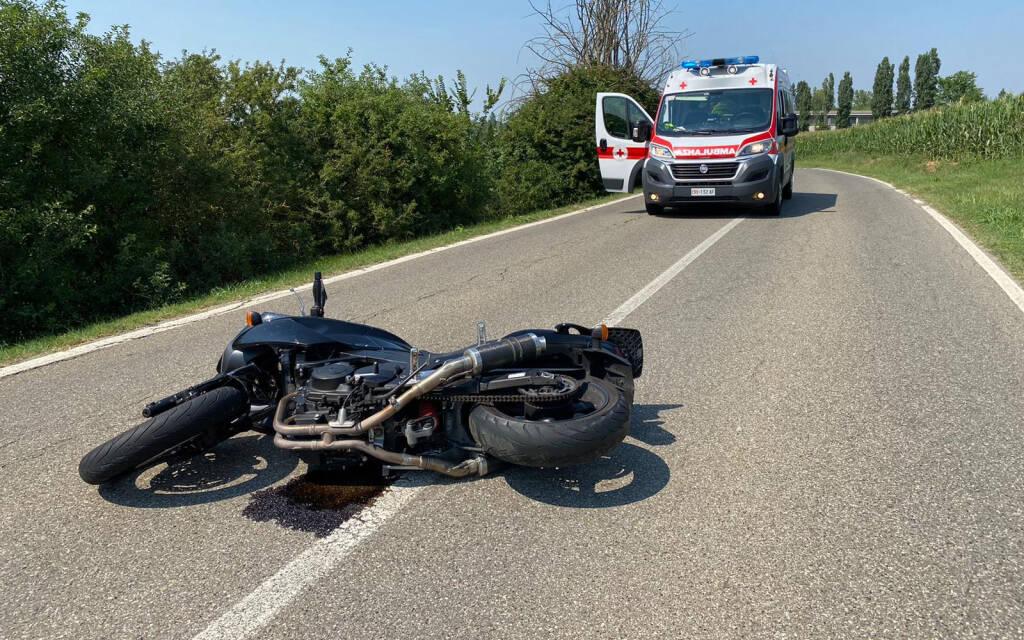 L'incidente in moto ad Agazzano