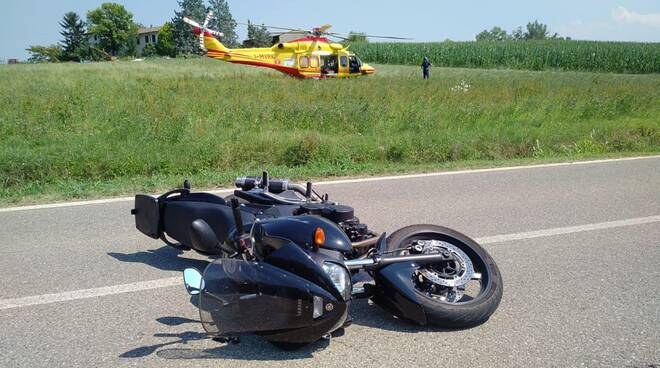 L'incidente in moto ad Agazzano