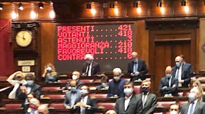 La votazione alla Camera