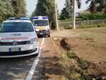 caduta ciclista a Vicobarone