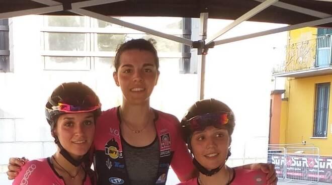 Eleonora Camilla Gasparrini, Aurora Mantovani e Giulia Affaticati (VO2 Team Pink)